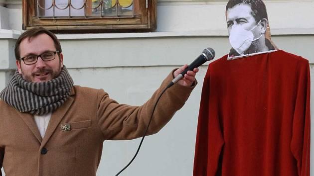 Adam B. Bartoš dává slovo karikatuře Jana Hamáčka aneb diskuze v podání radikála.