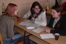 Lucie Machová, Michaela Dirová a Jaroslava Plevková ze Střední zemědělské školy v Písku