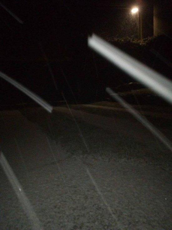 První sníh. Choustník.