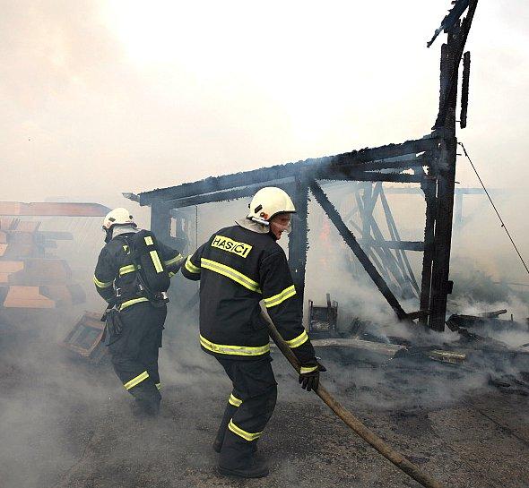 Snímek z místa požáru