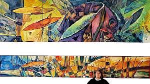 Soběslavskou obřadní síň zdobí malba