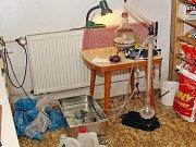 Policie na Táborsku udělala zátah na varnu pervitinu.