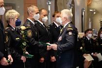 Slavnostní předání medailí jihočeským hasičům a slib nováčků.
