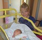 Nela Slípková z Bechyně.  Poprvé na svět pohlédla 8. srpna v 6.45 hodin. Vážila 3330 gramů, měřila rovných 50 cm a doma už má osmiletou sestřičku Nikolu.