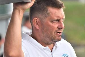 Trenér FC MAS Táborsko Miloslav Brožek.