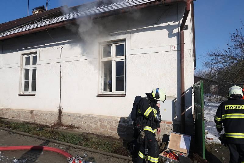 Tragický požár v Zárybničné Lhotě.