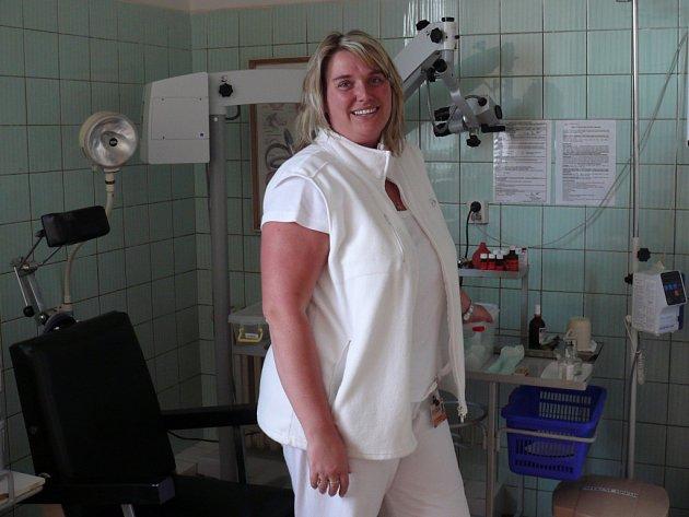 Kateřina Čížková rozdává v táborské nemocnici péči i úsměvy na oddělení ORL.
