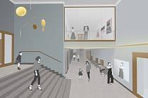 Vizualizace opravených diváckých prostor Divadla Oskara Nedbala. Foto: archiv DONu