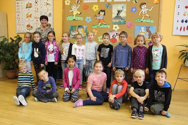 Děti z1. B ze školy Františka Křižíka Bechyně