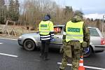 Kontroly na hraničním přechodu Strážný.