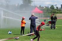 Jarní kolo hry Plamen pro kolektivy mladých hasičů v sobotu 1. června na Stadionu Míru.