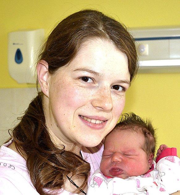 TEREZA VALKOVÁ Z PACOVA.  Rodiče Lenka a Petr se 13. prosince v 16.11 hodin dočkali své prvorozené dcery. Její váha byla 3450 gramů.