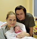 Ema Houdová Tábora. Rodiče Monika a David se své prvorozené dcery dočkali 18. prosince v 9.45 hodin. Po narození malá Ema vážila 2840 gramů a měřila 45 cm.