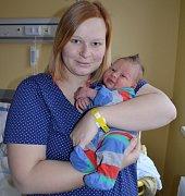Pyšná maminka Iveta Radostová se svým prvním synem Damiánem Žilinčíkem.