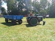 Čtvrtý ročník traktoriády v Sedlečku u Soběslavě.