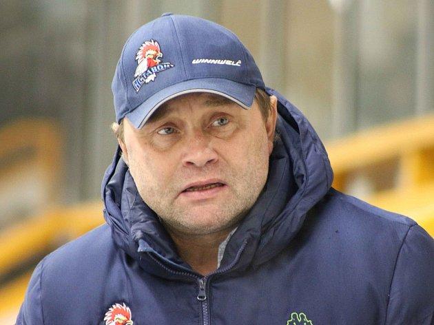 Trenér HC Tábor Tomáš Matušík.