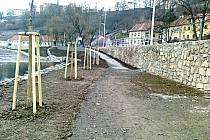 Stavba protipovodňové zdi v Táboře je u konce.