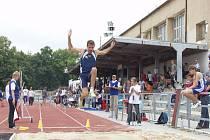Táborský stadion hostí atletický šampionát.Ilustrační foto.