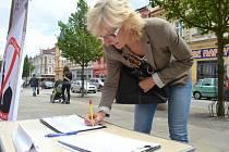 Petici proti povinnému přijímání imigrantů podepsala i Květa Hoffmanová z Tábora.