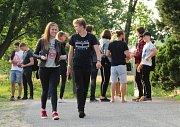 Studenti Gymnázia Soběslav pořádali vkempu u Lužnice tradiční hudební festival Gymplfest. Foto: Lenka Pospíšilová