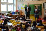 První školní den v ZŠ Malšice.