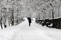 ASTRONOMICKÉ JARO. Ještě den před příchodem astronomického jara se lidé brodili ve sněhu. Například při procházce okolo táborského Jordánu.  Nová až 15 centimetrů vysoká sněhová pokrývka ztrpčila cestu do práce chodcům i řidičům. Také příroda už touží po
