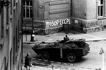 Sovětská armáda v srpnu 1968 v Táboře.