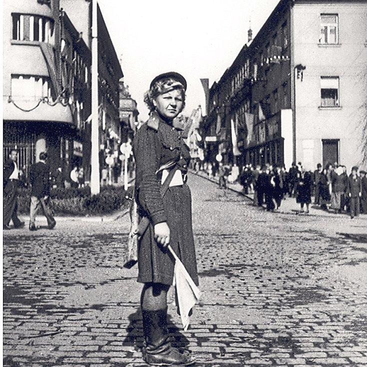 KVĚTEN 1945 V TÁBOŘE. Snímek je z dnešního Křižíkova náměstí.