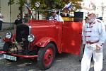 Historická hasičská technika zastavila v sobotu i v Táboře.