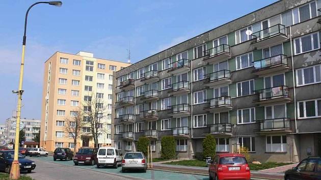 Panelové domy v Sezimově Ústí. Ilustrační foto