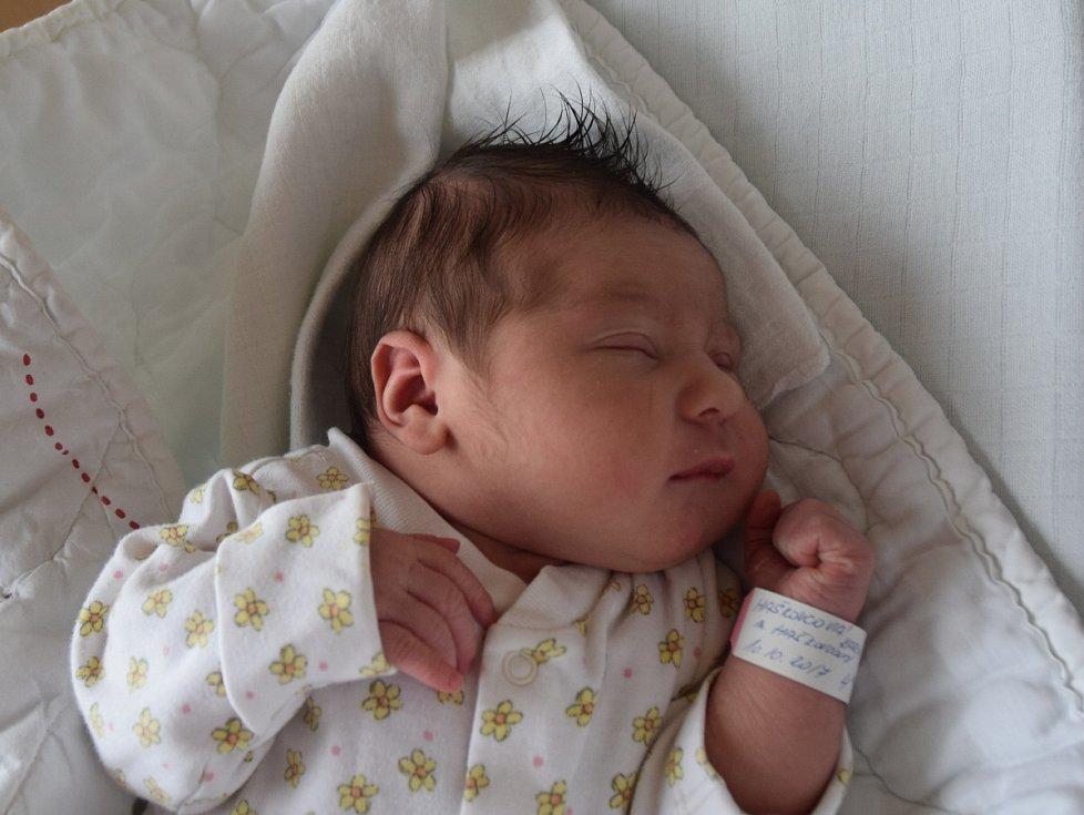 Karin Haškovcová z Bernartic. Na svět přišla 10. října ve 4.03 hodin s váhou 4070 gramů a mírou 51 cm. Je druhou dcerou v rodině, už má sestřičku Karolínu, které je tři a půl roku.
