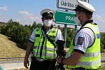 Společná preventivní akce Ředitelství silnic a dálnic (ŘSD), Besip a dopravní policie se uskutečnila na dálnici v Chotovinách.
