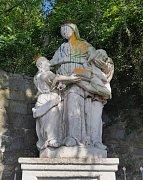 Vandal poškodil sochu ze 17. století a způsobil tak škodu ve výši 45 tisíc korun.