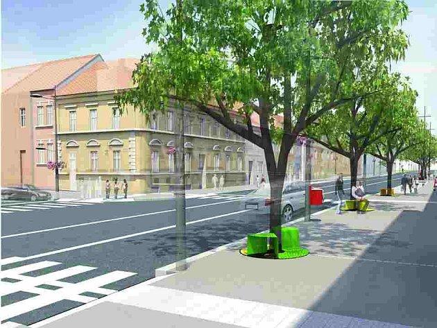 Nová podoba Budějovické ulice v Táboře.