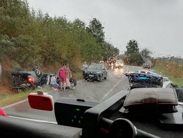 Třetí nehoda se stala vpátek 25.srpna vpodvečer uSudoměřic na Táborsku.
