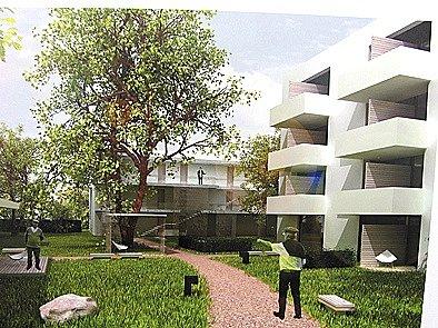 Návrh domu s pečovatelskou službou v SÚ.