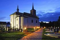 Hřbitov v Roudné.