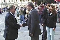 Při druhé prezidentské návštěvě Tábora byl starostou František Dědič. Kromě Havla přijel i prezident Německa.