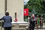 Díky projektu Bojovníci boží – 600 let zdobí od soboty 27. června Masarykův dům pamětní deska připomínající obranou bitvu husitů ze dne 30. června 1420.
