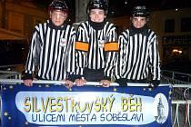Silvestrovský běh v Soběslavi.