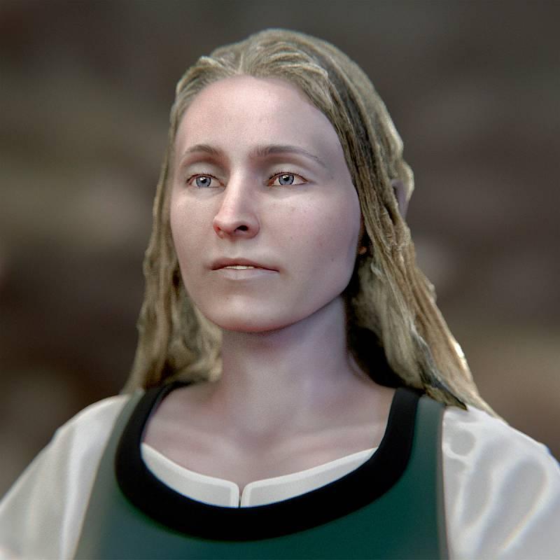 Mimo mnoho zajímavých objevů a artefaktů z dějin Tábora od pravěku po třicetiletou válku bude lidskou stránku dějin reprezentovat v nové expozici v Bechyňské bráně mladá žena zvaná Apolena.