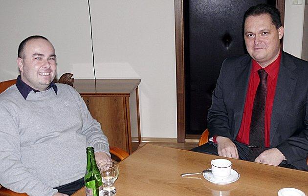 Rektor VŠTE Marek Vochozka jednal s ředitelem táborského úřadu práce Pavlem Kaczorem.