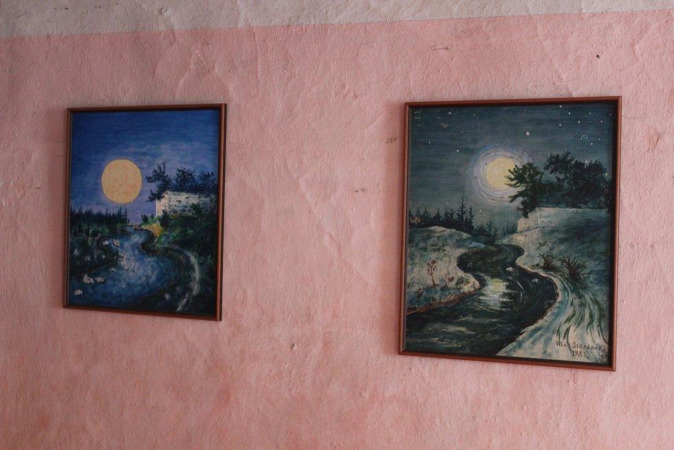 Kresby původního obyvatele mlýna Viléma Štěpánka.
