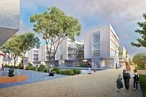 Ve čtvrti Dvorce najde nový domov až 2000 Táboráků. Vizualizace vítězného návrhu od studia Norma architekti.