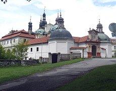 Barokní kostel v Klokotech.