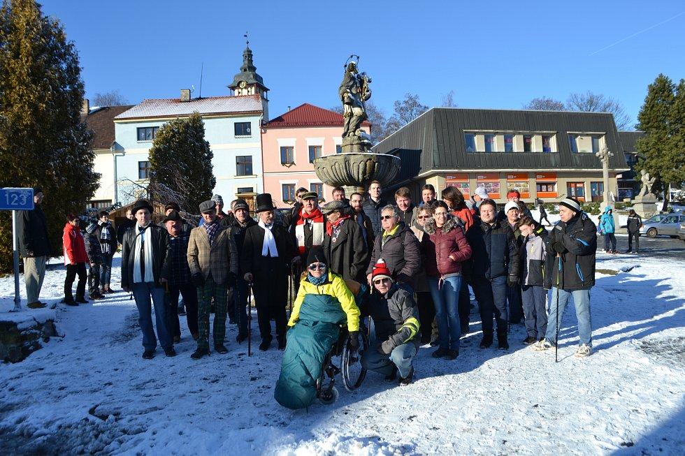 Pochod Tři veteránů v Jistebnici.