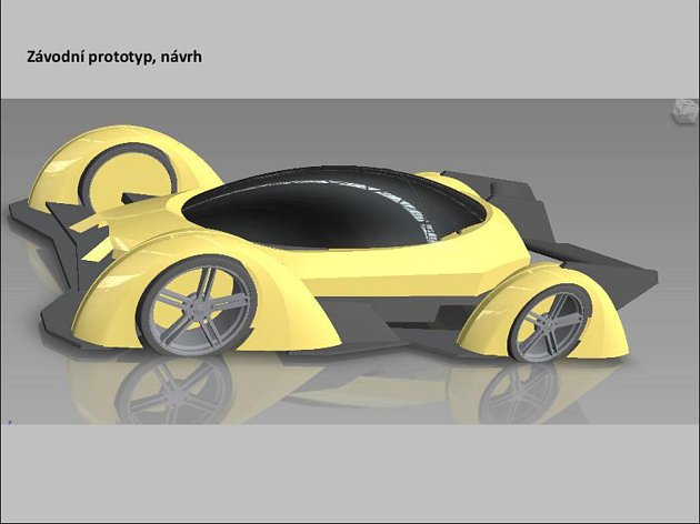 8) Ve Francii podle mého konceptu postavili vůz. Auto má být malé a lehké, proto jsem udělal volant uprostřed. Řidič má více místa a vzadu je prostor pro celou rodinu. Momentálně hledáme šikovného elektronika a IT specialistu, který dokáže vdechnout život