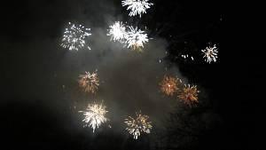 Novoroční ohňostroj v Plané nad Lužnicí