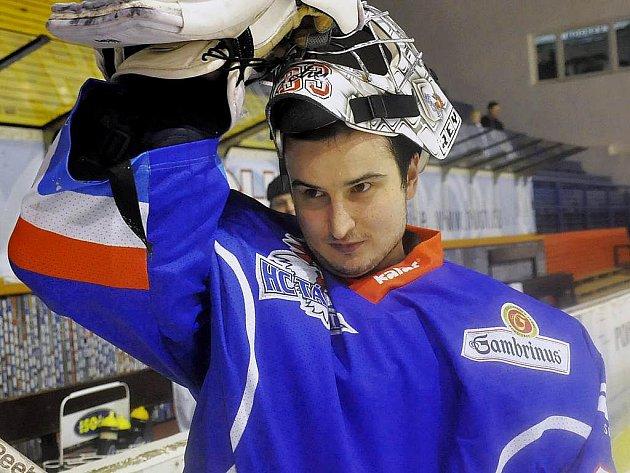 Gólman Jakub Čech.