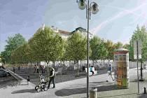 Vizualizace ukazuje, jak bude prostor táborského náměstí TGM na podzim vypadat.